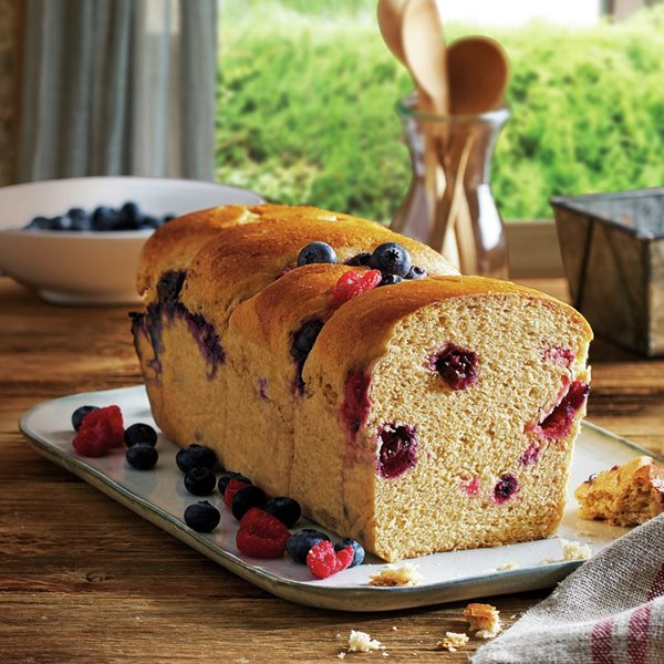 Pan de frutos rojos