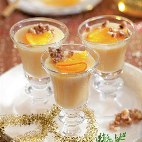 Copitas de crema catalana con naranja