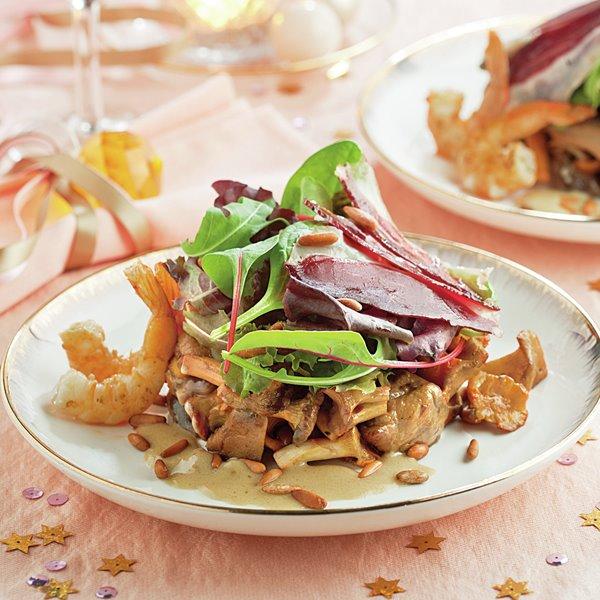 Ensalada gourmet con jamón de pato