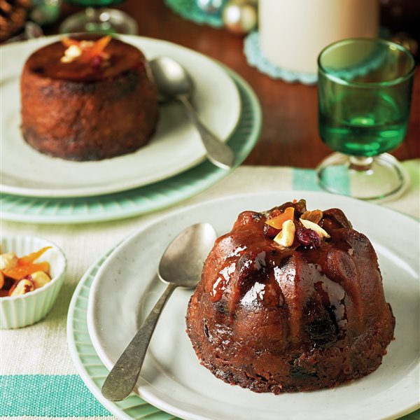 Christmas pudding con frutas y frutos secos