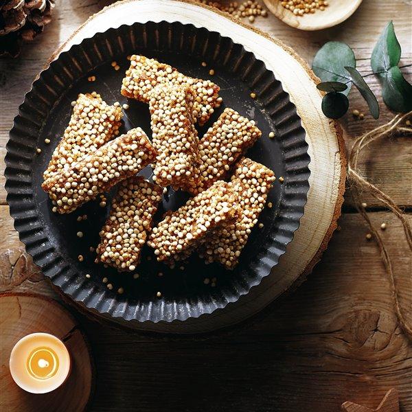 Turrón de quinoa y almendra