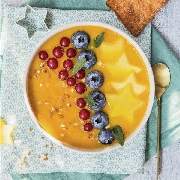 Sopa dulce de mango