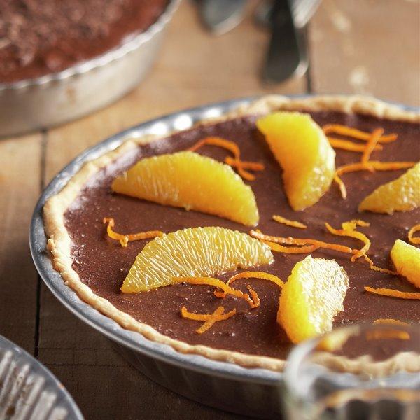 Tarta fácil de chocolate fondant con naranja