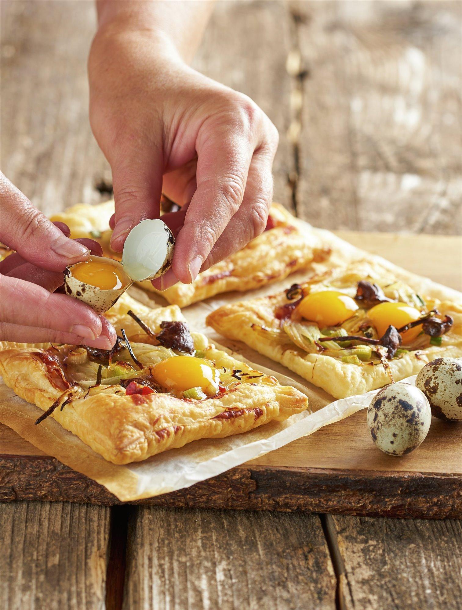 3. Casca huevos encima