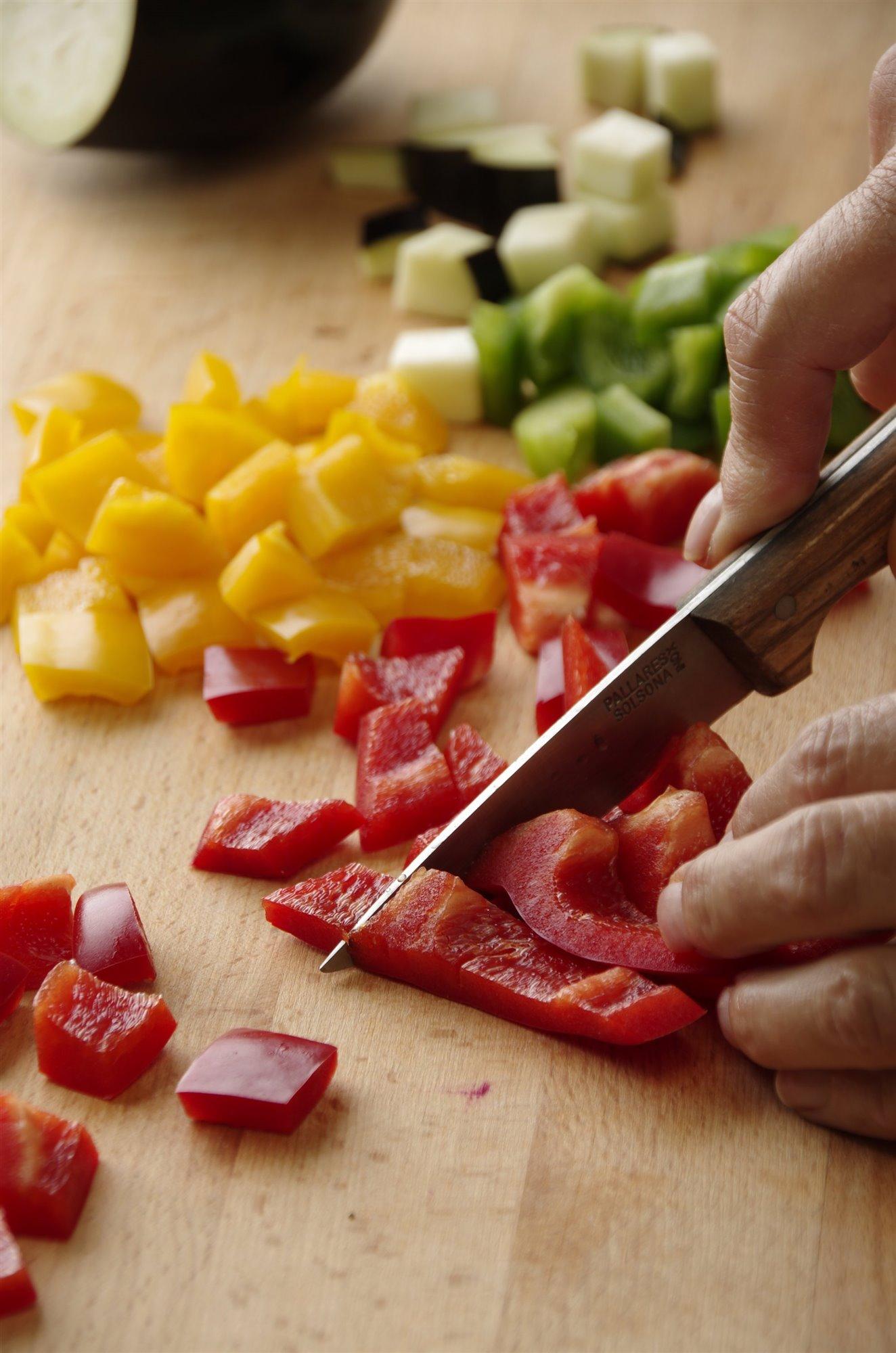2. Corta las verduras