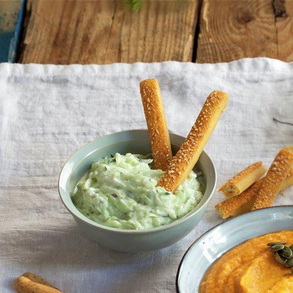 Dip de pepino y yogur griego