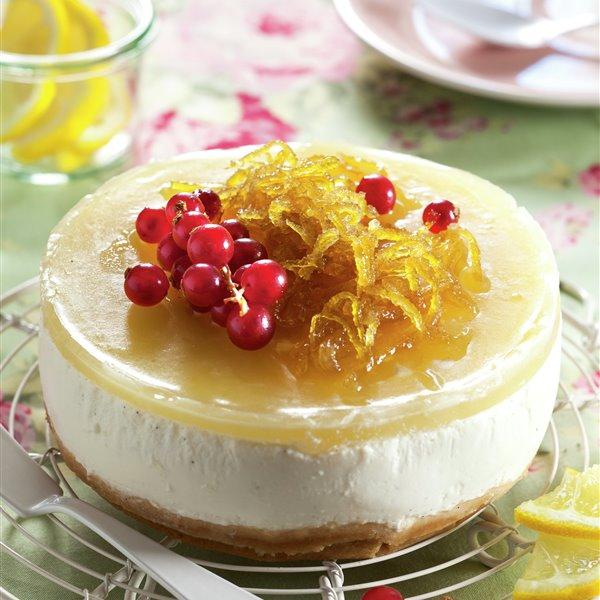 Pastelitos de queso con gelatina de limón y miel
