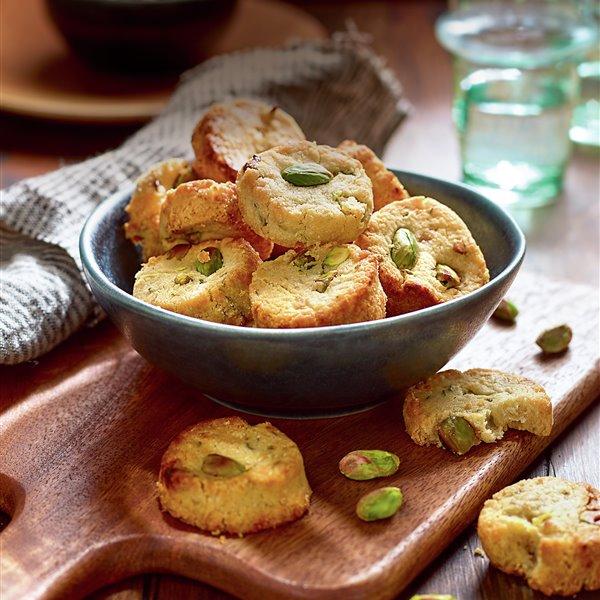 Galletas de mantequilla con pistachos