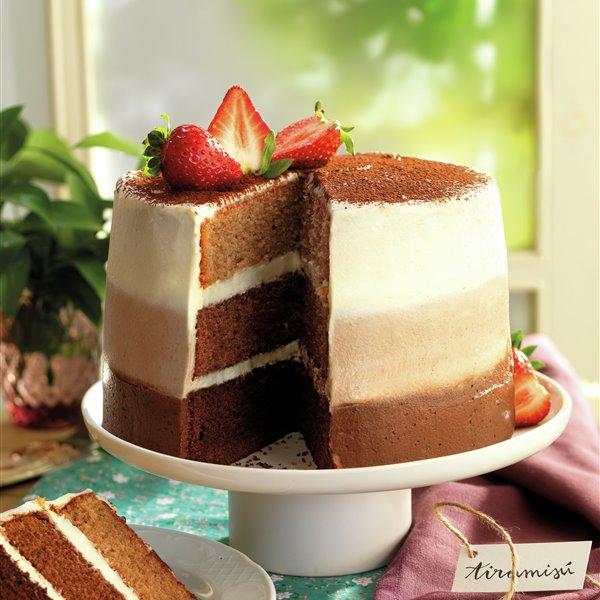 Layer cake de tiramisú