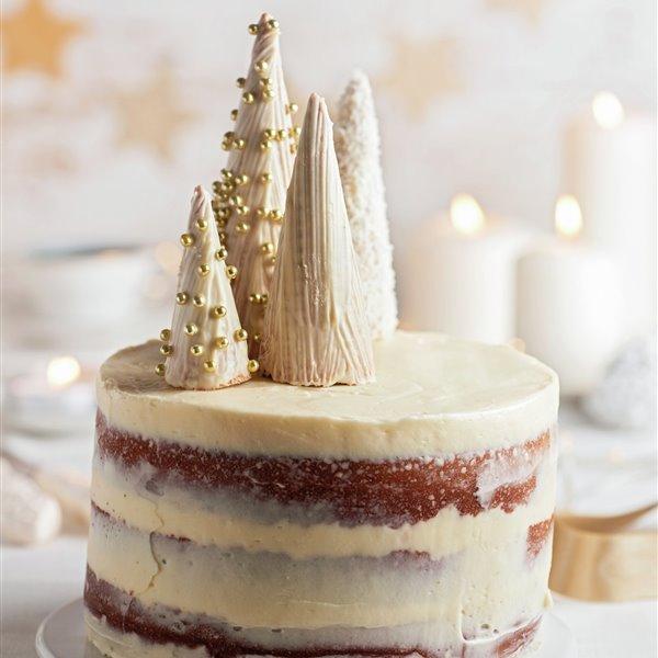 Naked cake de chocolate blanco y nata
