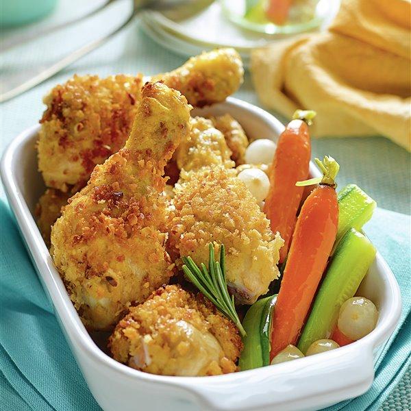 Muslitos crujientes con verduras