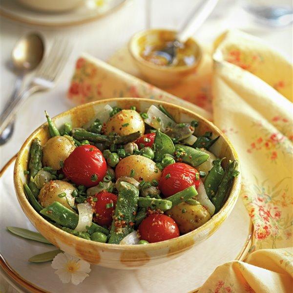 Salteado de patatas baby y verduras