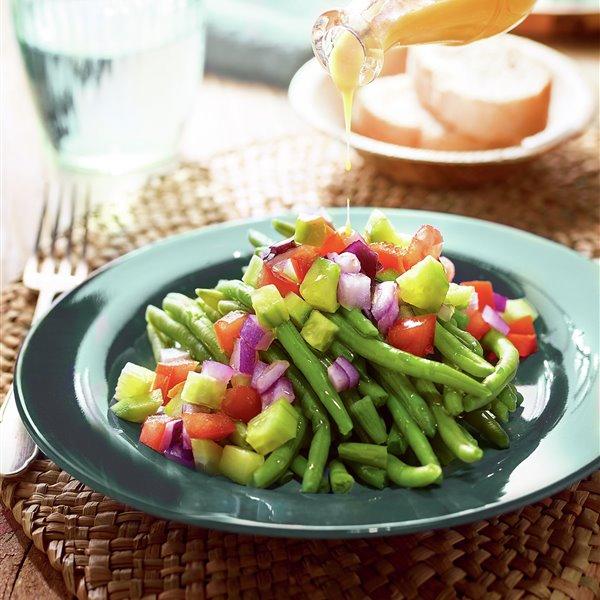 Judías verdes con salpicón de hortalizas