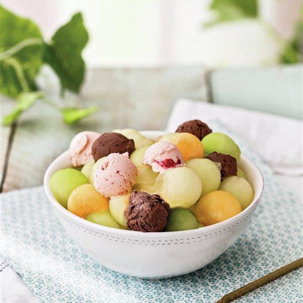 Bolitas con helado
