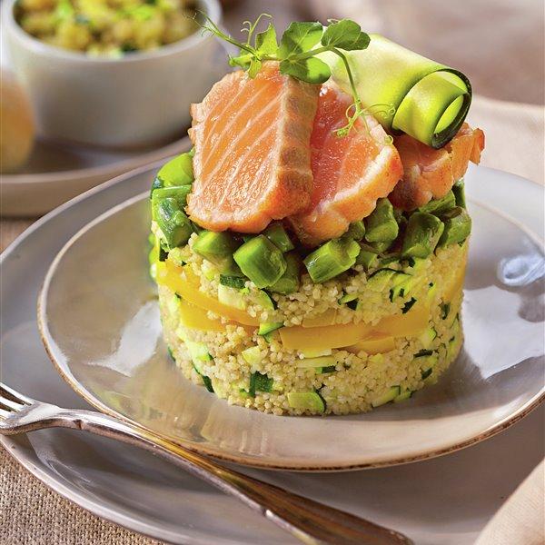 Tataki de salmón con cuscús