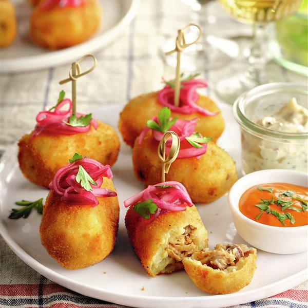 Croquetas de patata y carne