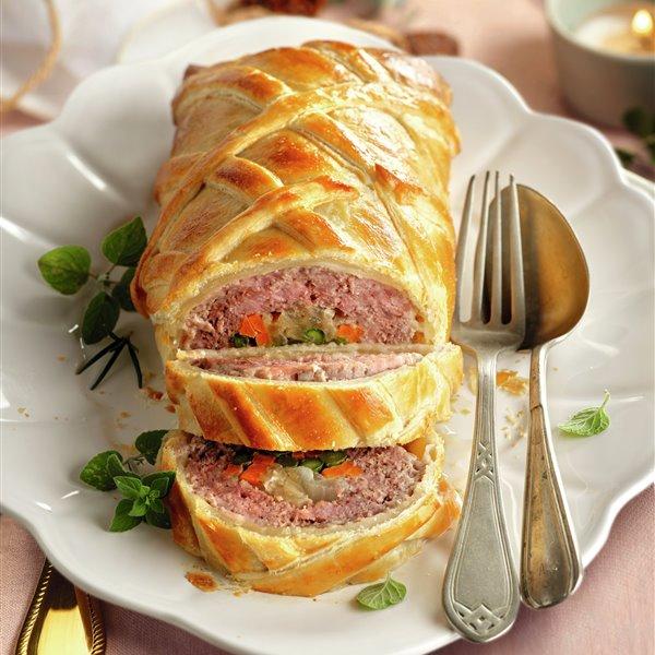 Hojaldre de carne y verduras
