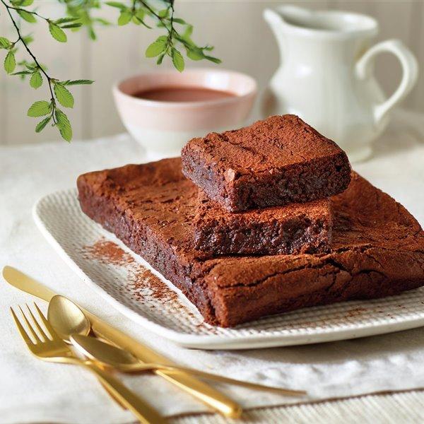Brownie clásico a la vainilla