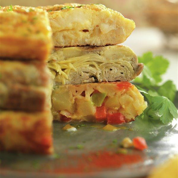 Tortilla de patatas y pimientos