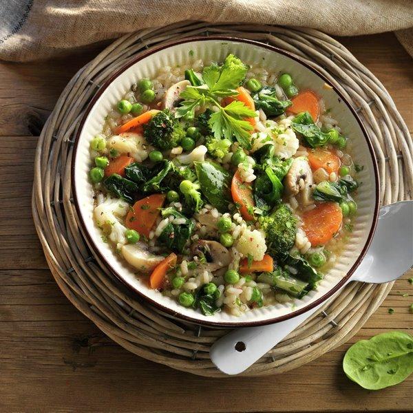 Arroz caldoso de verduras