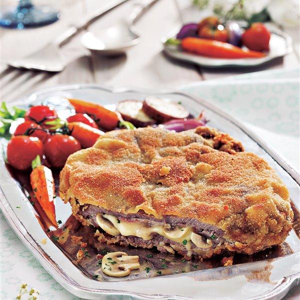 Cachopo asturiano de queso y jamón ibérico