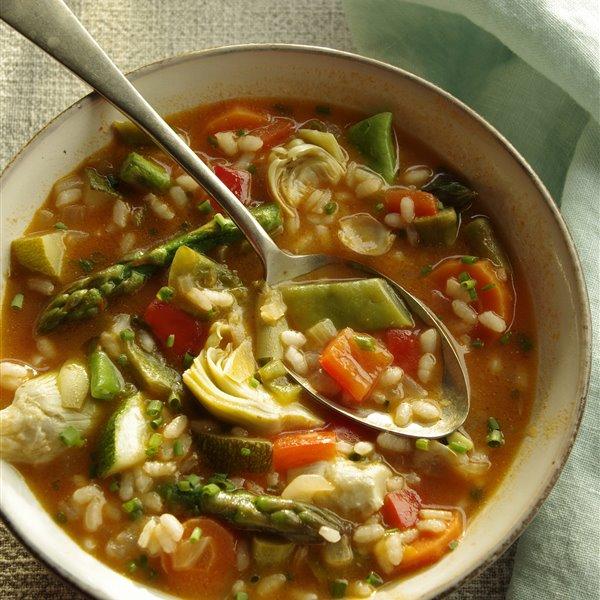 Arroz caldoso de verduras con un toque de pimentón