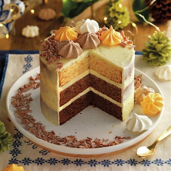 Pastel 3 chocolates con buttercream