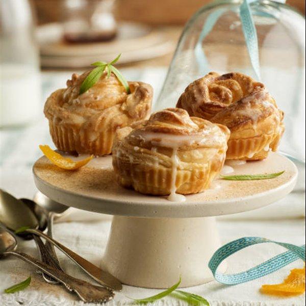Cruffins glaseados (mezcla de croissant y muffin)