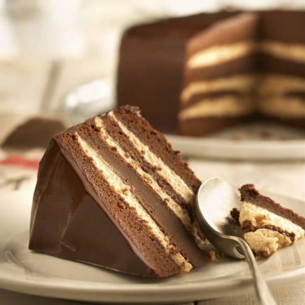 Superpastel de chocolate y avellanas
