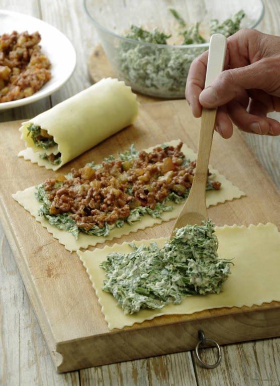3. Prepara el relleno de espinacas