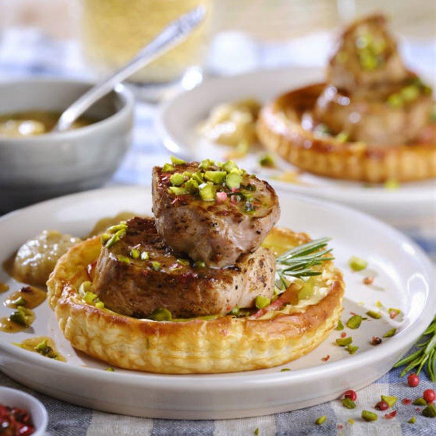 Tartaleta de hojaldre con solomillo de cerdo