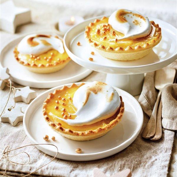 Tartaletas de crema de mandarina