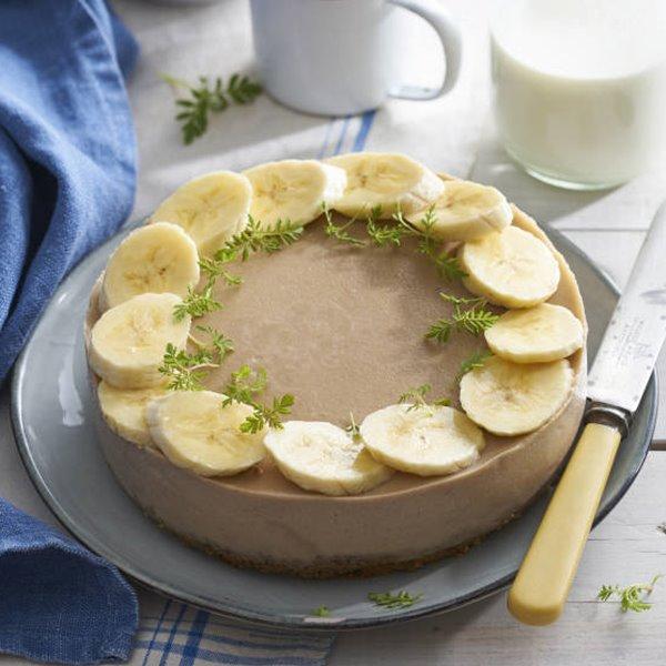 Pastel fácil de plátano y galleta