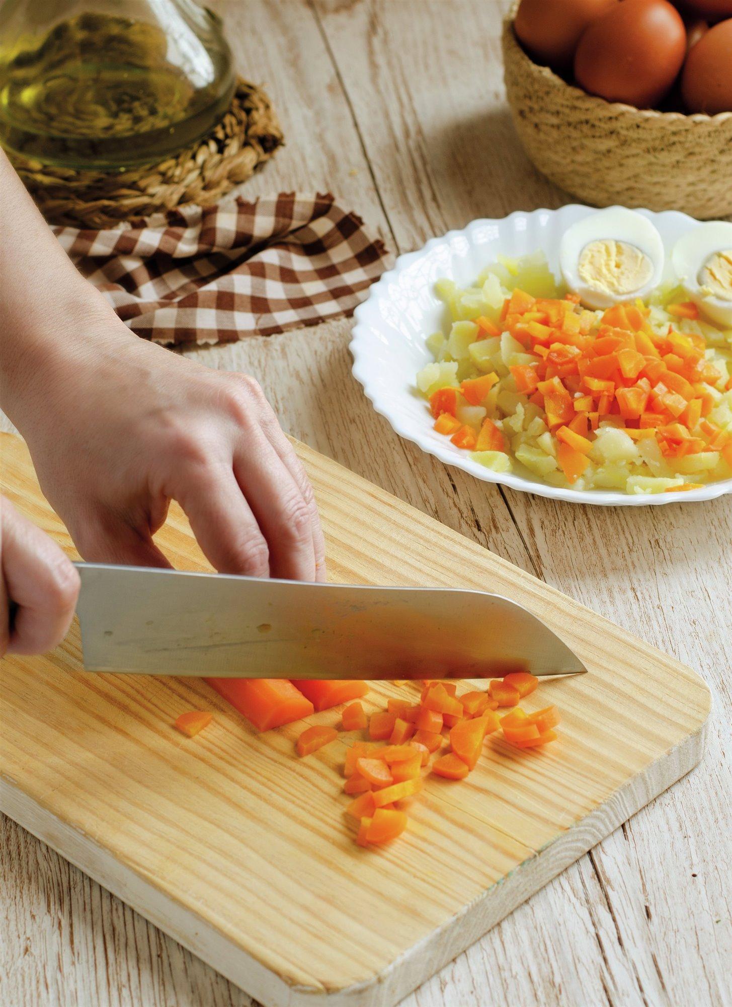 4. Corta los ingredientes