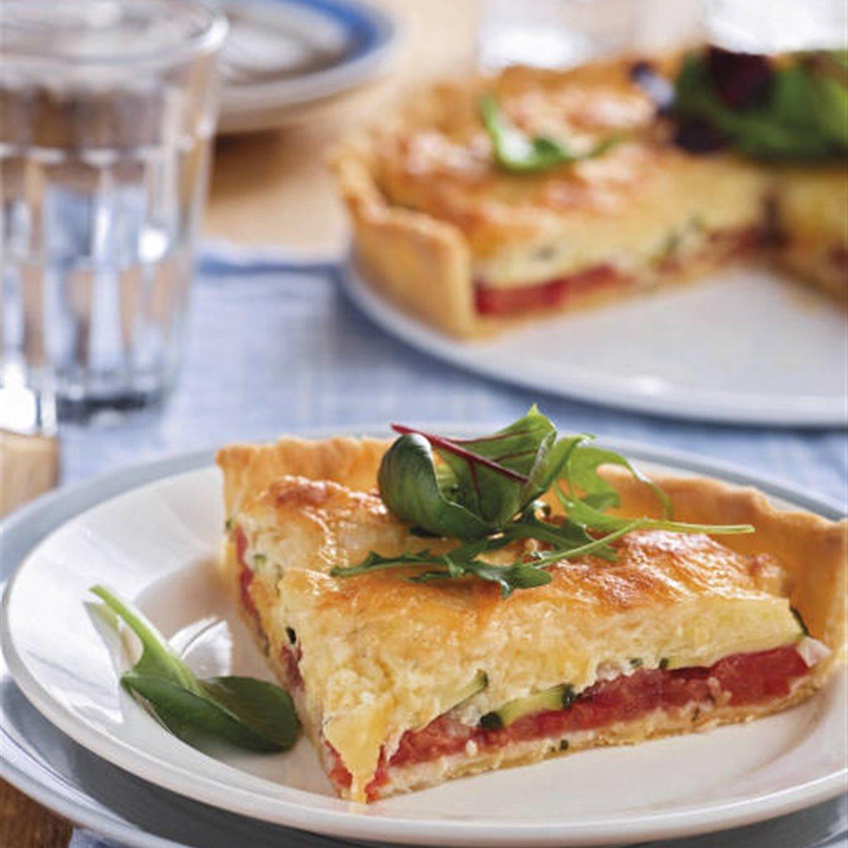 Tarta de tomate y calabacín