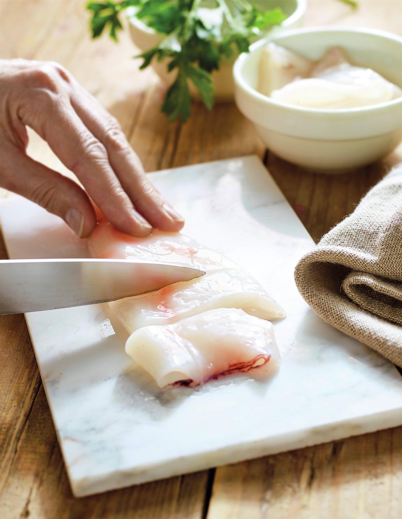 6. Corta los calamares