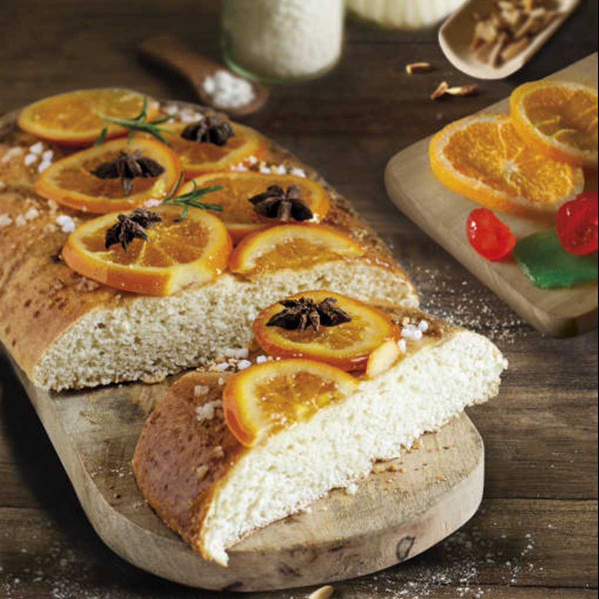 Brioche de queso crema y naranja