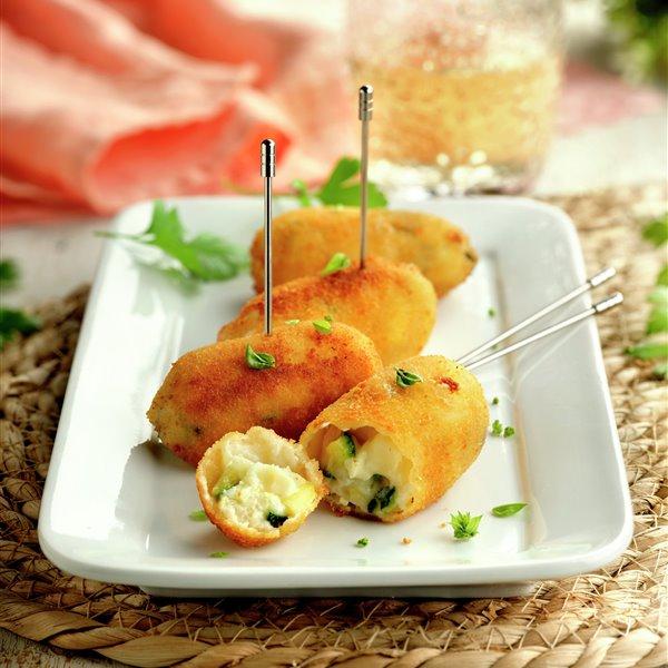 Croquetas de queso y calabacín