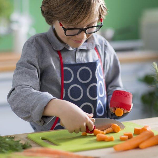 Un cuchillo y un pelador para que los pequeños chefs cocinen sin peligro