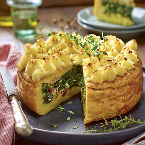 Pastel de espinaca y patata