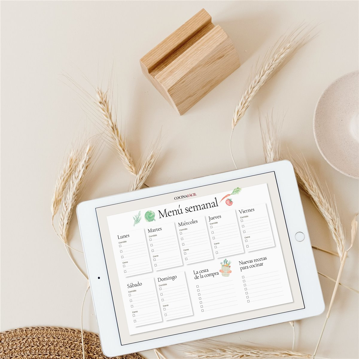 descargable menu semanal