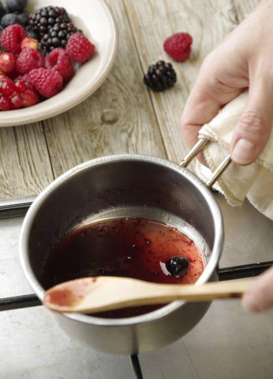 2. Calienta las frutas