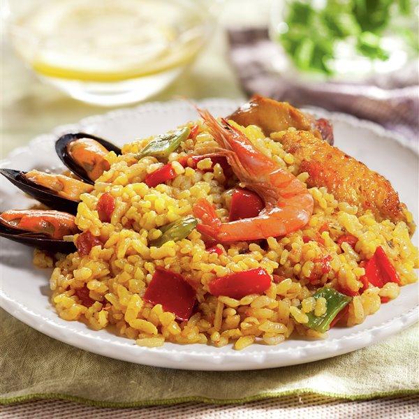 Paella mixta con marisco