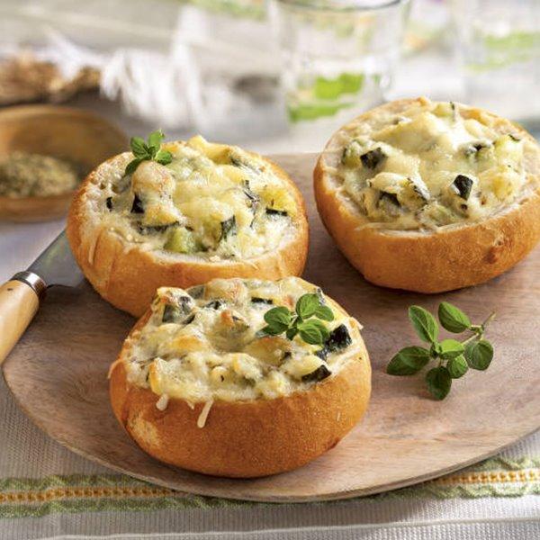 Bollitos de verdura y queso