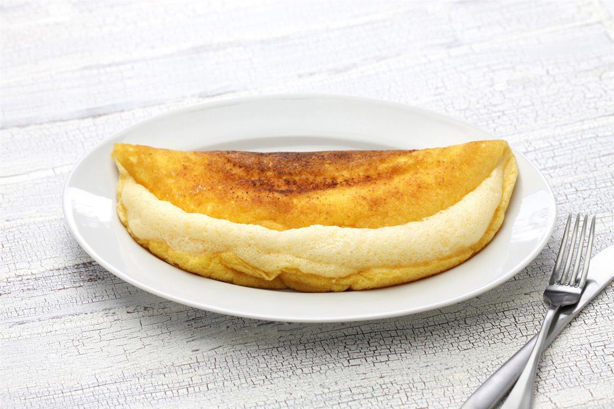 Tortilla con yemas y claras separadas