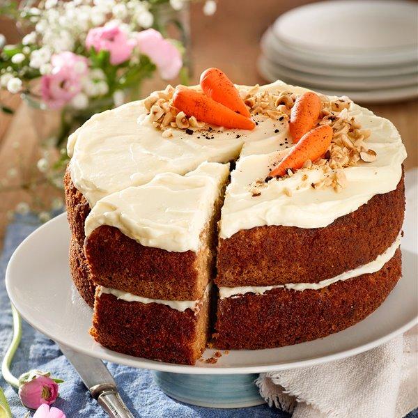 Pastel de zanahoria con buttercream