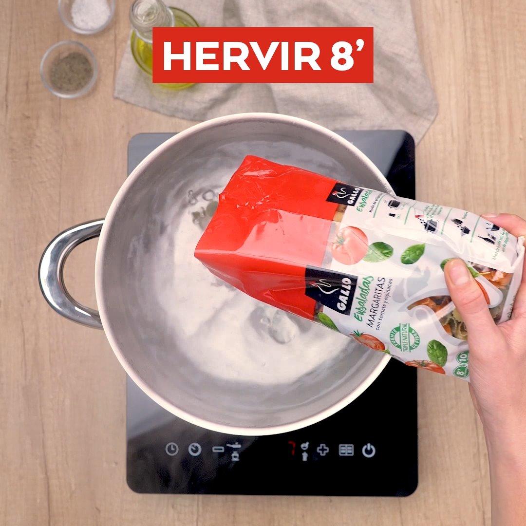 Hirviendo la pasta