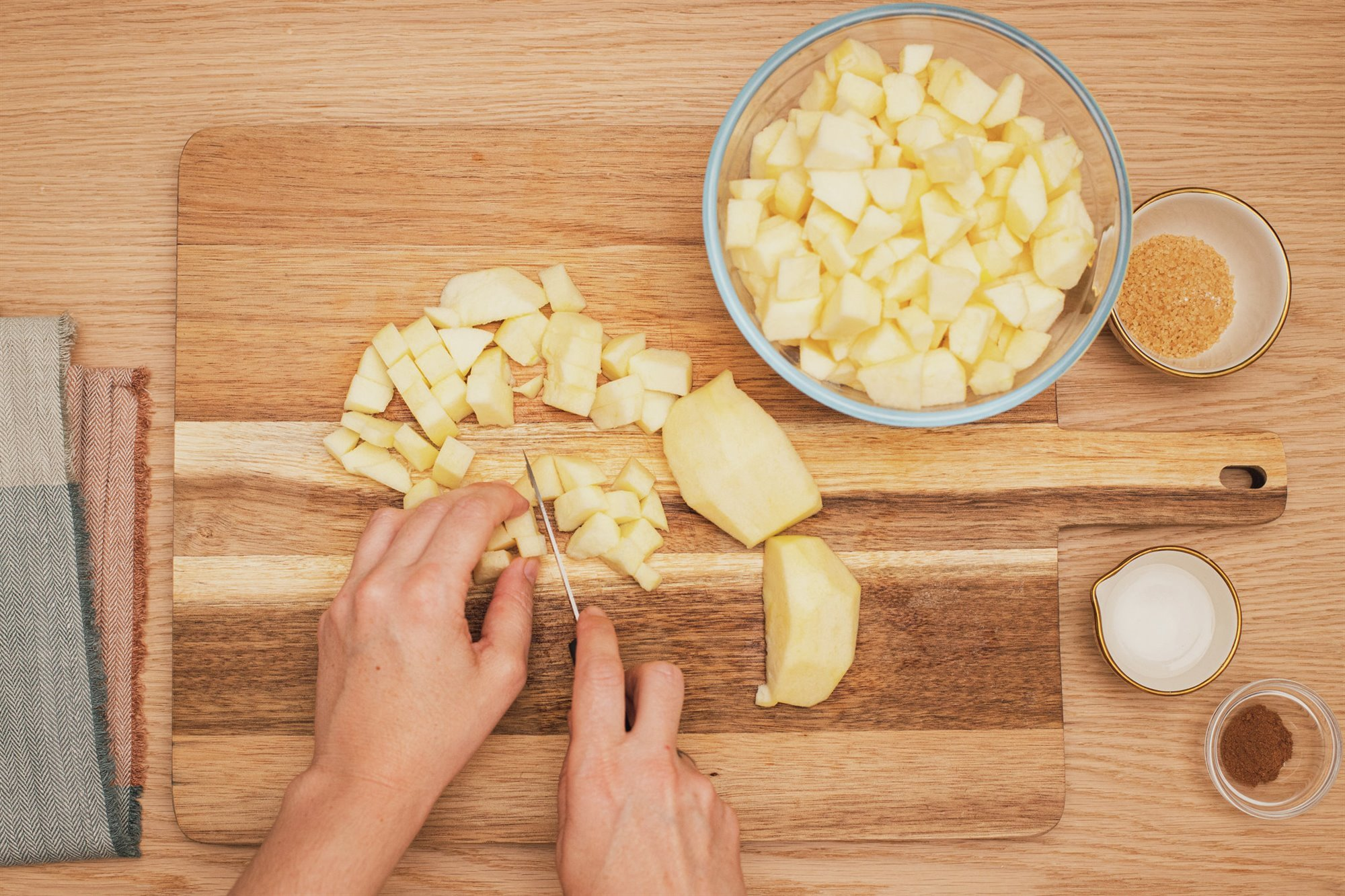3. Haz la compota de manzana