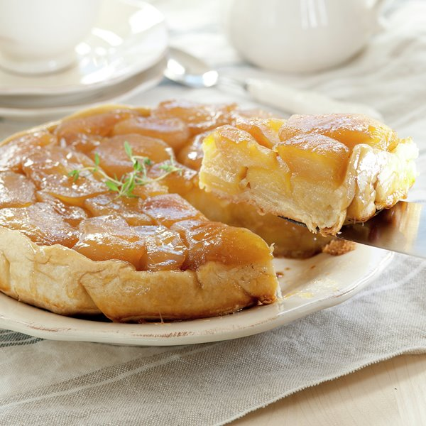 Tarta tatin de manzanas golden con pasta brisa