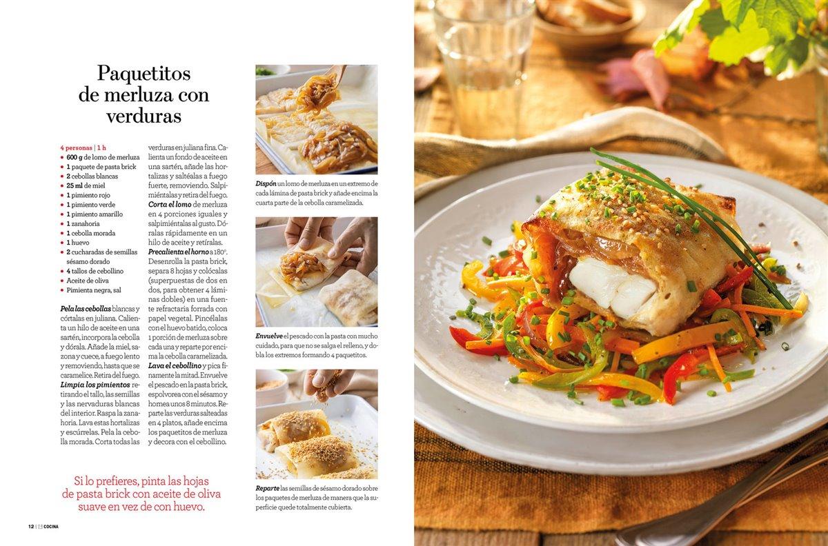 Página de recetas de pescado al horno de Lecturas Cocina